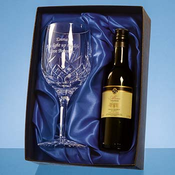 Blenheim Single Goblet Gift Set with a 18.7cl Bottle of Red Wine