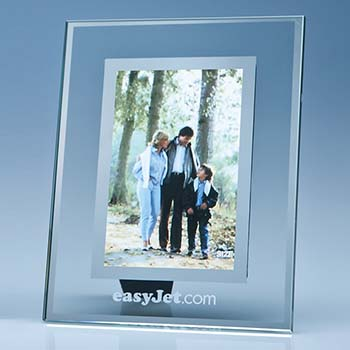 Clear Glass Frame with Mirror Inlay -  4x6 inch