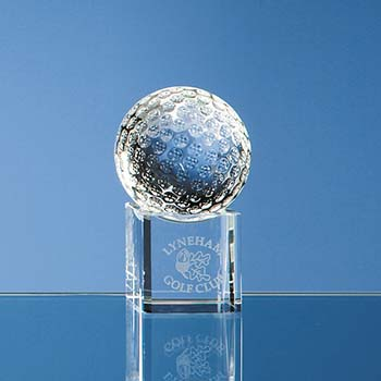 Golf Ball Award on Clear Base - 5cm