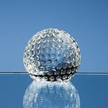 6cm Optical Crystal Golf Ball Paperweight