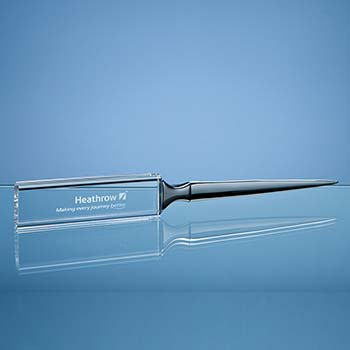 21.5cm Optical Crystal Letter Opener