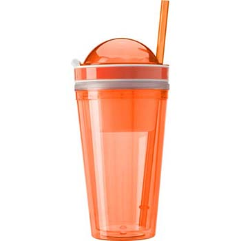 340Ml Transparent Coloured Plastic Mug