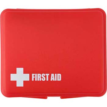 First Aid Kit In A Plastic Box 10Pc