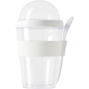 Plastic Breakfast Mug With Separate Compartment