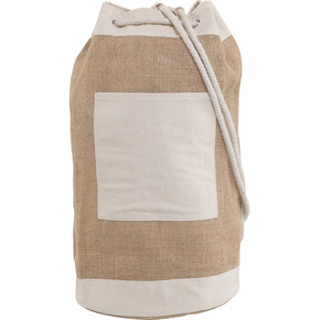 Jute Duffel Bag with Metal Eyelets