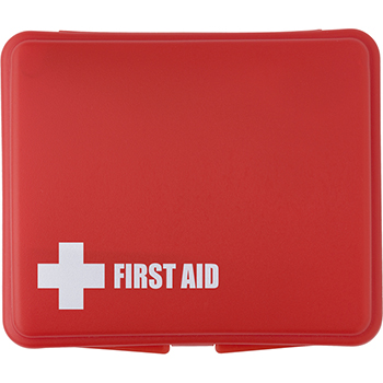 First Aid Kit in a Plastic Box