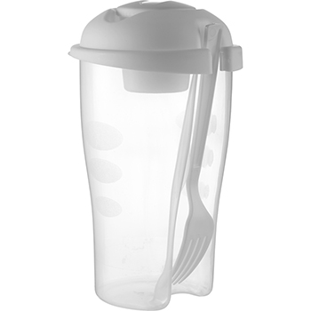 Salad Shaker with Cup and Fork