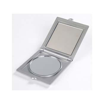 Mirror - Silver Pocket Mirror - Double Mirror