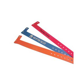 Security Wristbands - Narrow Vinyl