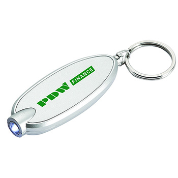 LED Keyring Torch Silver/Silver
