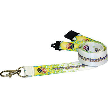 10mm Dye Sublimated Polyester Lanyard