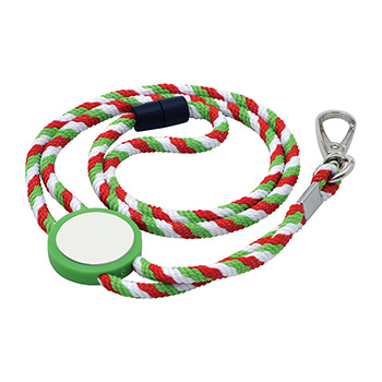 Rope Lanyard with Tab Inset