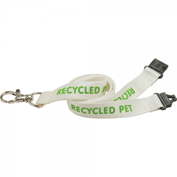 15mm  PET Lanyard - Natural col