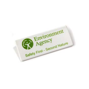 Recycled Rectangle Badge - 75mm x 30mm