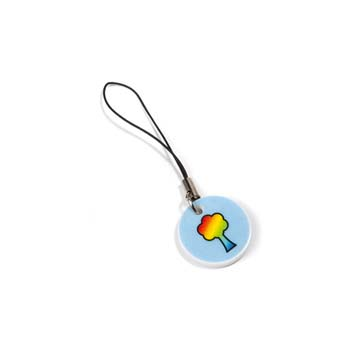 Mobile Phone Charm - White
