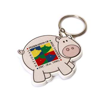 PIG Shaped  Keyring