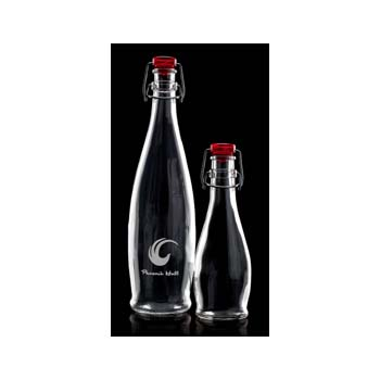 Flip Top Cork Bottle 1 Ltr 320Mm High Red Top