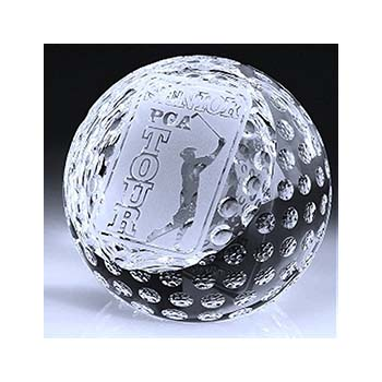 Crystal Golf Ball With Flat Face