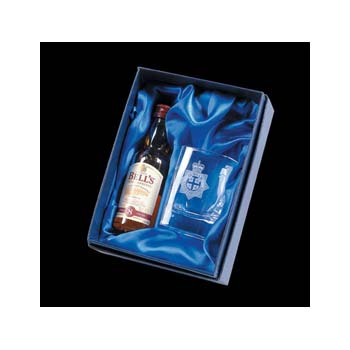 Square Tot Glass And 5Cl Miniature Whisky