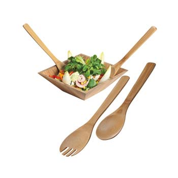Capua Bamboo Salad Servers