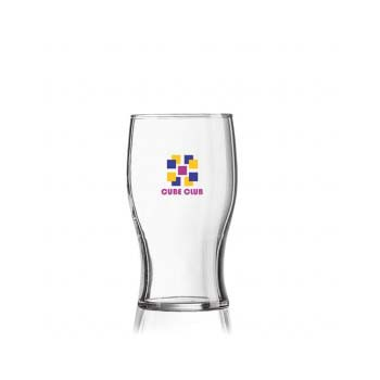 Re-Usuable Glass 10oz Half Pint Tulip