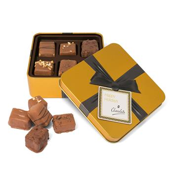 Gold Square Chocolate Tin - Small