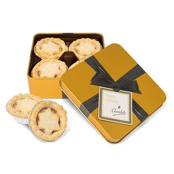 Gold Square Mince Pie Tin - Small