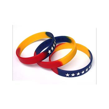 Multi Colour Silicone Wristband