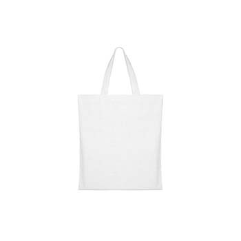 White Cotton Bag with Long Handles