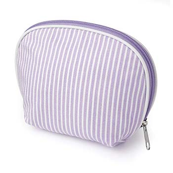 Striped Cotton Make-Up Bag