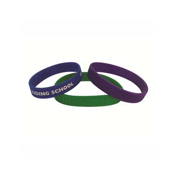 Colour Infill Silicone Wristband