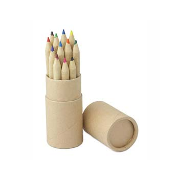 Craft Paper Pencil Half Length Tube