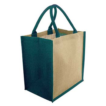 Green & Good Brighton Jute Bag - Coloured Trim