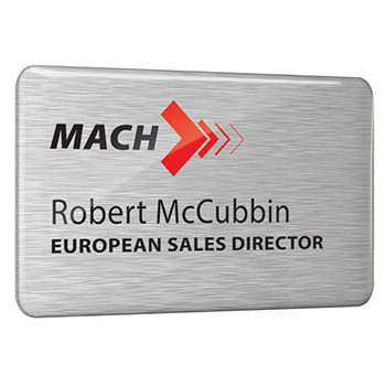 Dome Finished Printed Metal Name Badge