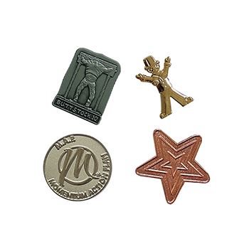 25mm Metal Relief Badge