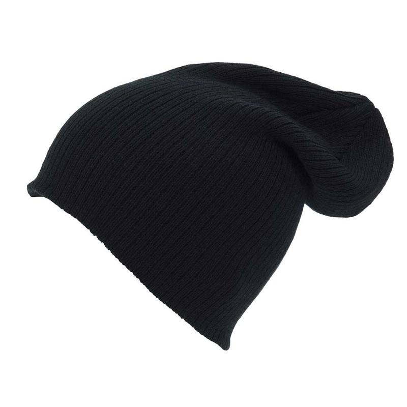2754668308a Ribbed Slouch Beanie Hat