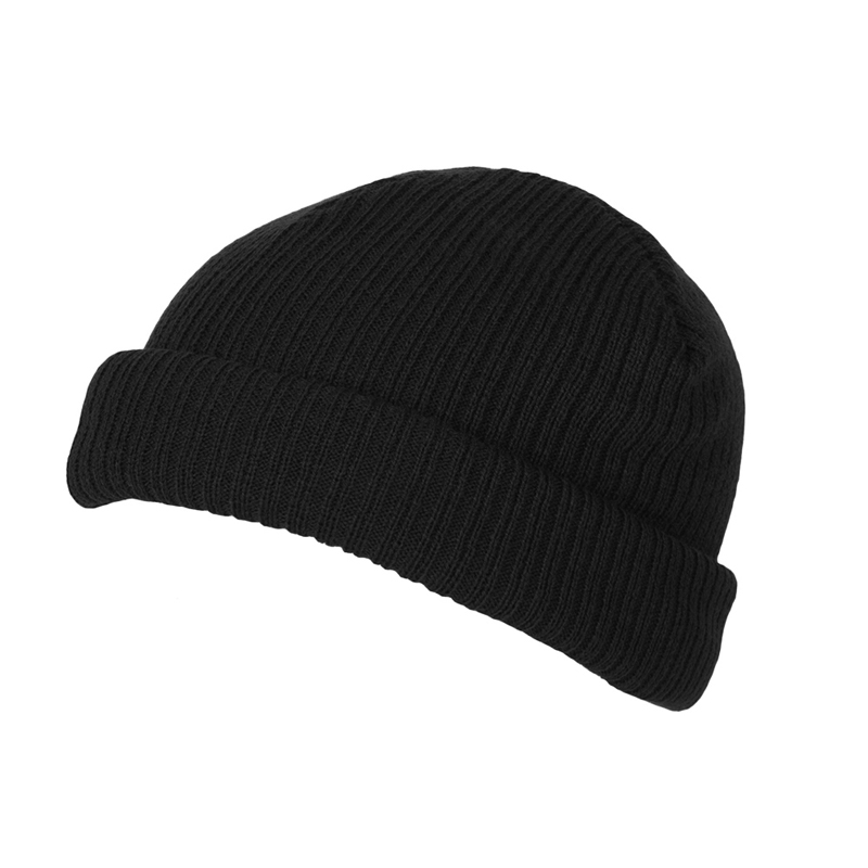 Short Fit Turn-Up Beanie  ee6d6bce99c