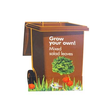 Wheelie Bin Shaped Seed Sticks -  Satin finish