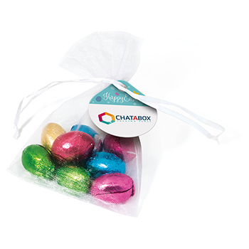 Organza Bag - Foil Wrapped Chocolate Eggs