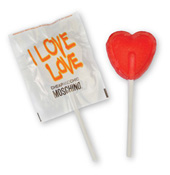 Heart Shaped Lolly with Personalised Wrapper