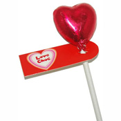 Foiled Mini Milk Chocolate Heart Lolly